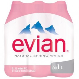 Evian 6 x 1lt Pet
