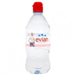 Evian 12 x 75cl Sports Cap